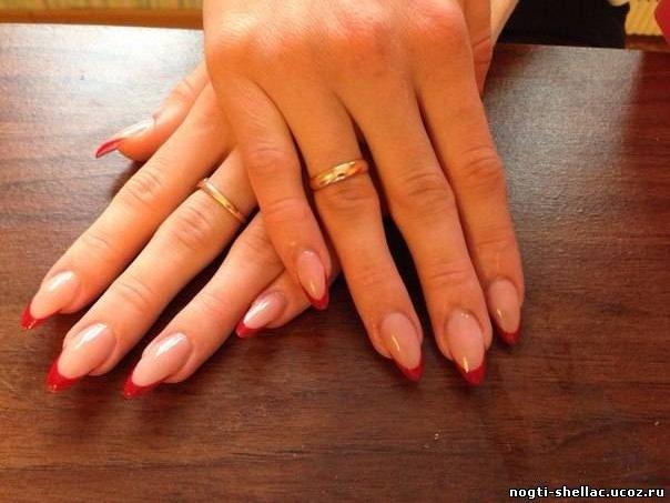 Наращивание ногтей овал
